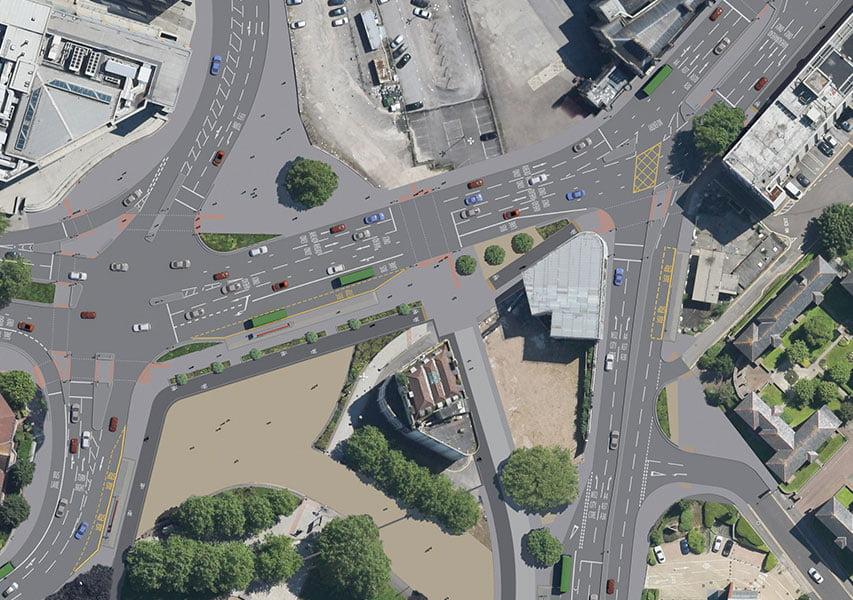 Bristol Design - 3D New Road Temple Gate Aerial