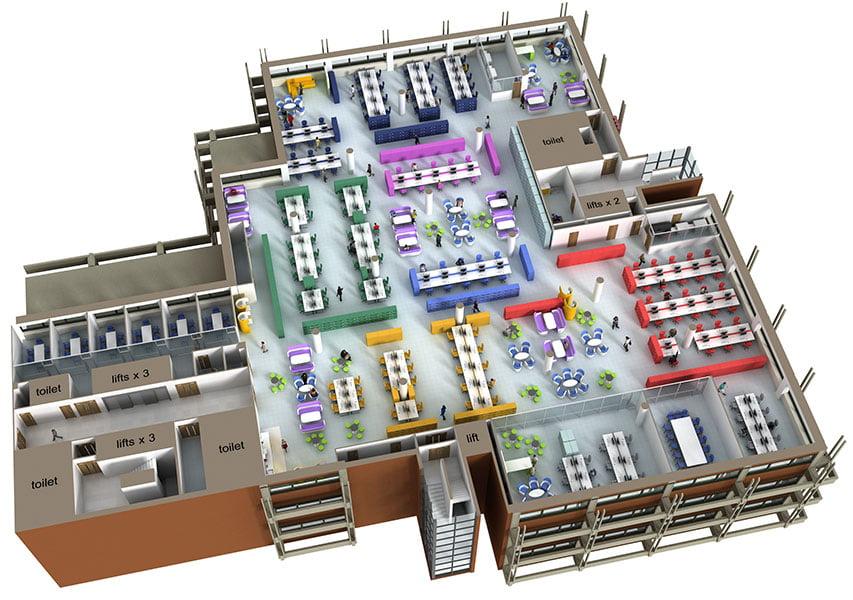 Bristol Design - 3D Office Layout