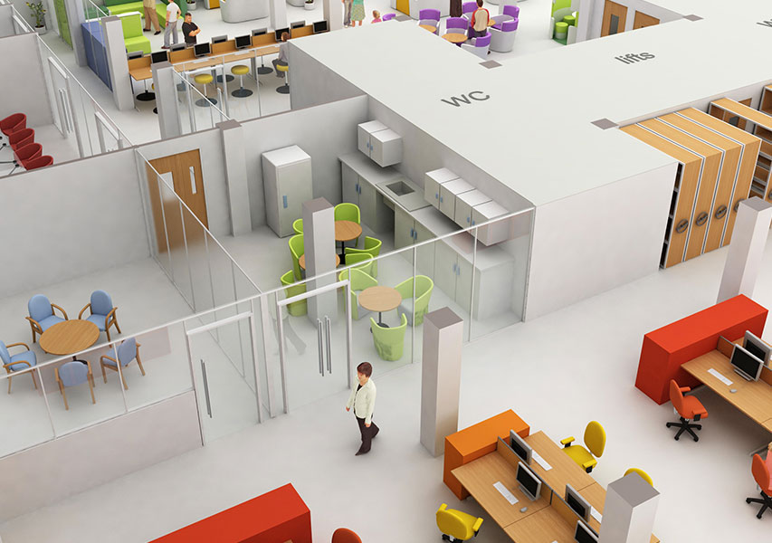 Bristol Design - 3D Office Layout 2