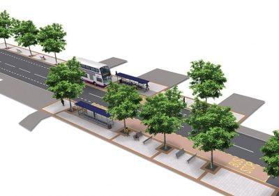Bristol Design - 3D Road Layout Bus Stops