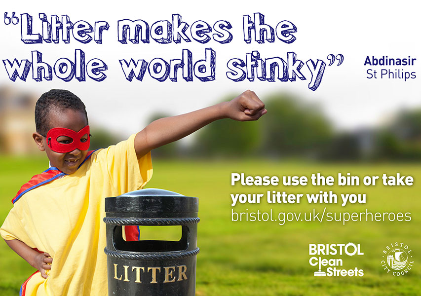 Bristol Design - Campaign Clean Streets Poster/Flyer