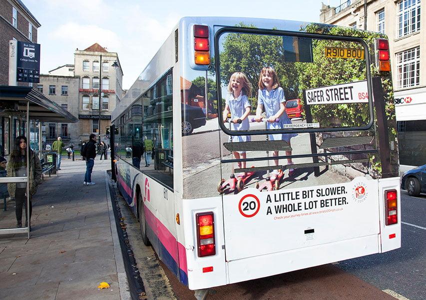 Bristol Design - Bristol 20mph Campaign - Bus Rear Ad