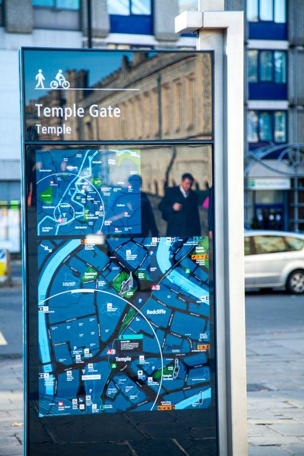 Bristol Design - Cartography Legible City Signage