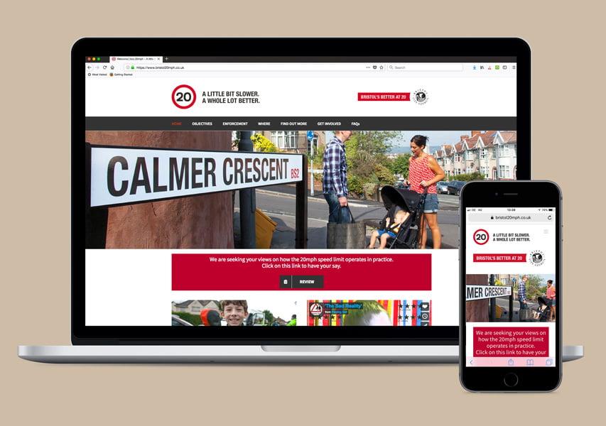 Bristol Design - Web_Bristol 20mph Website Website