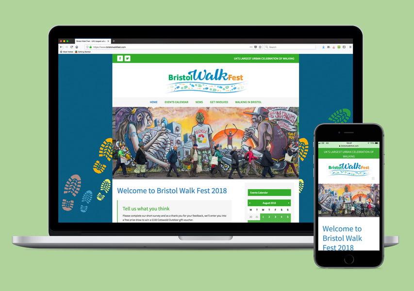 Bristol Design - Web_Bristol Walking Festival Website
