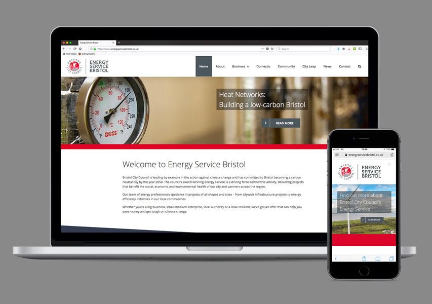 Bristol Design - Web_Energy Service Bristol Website